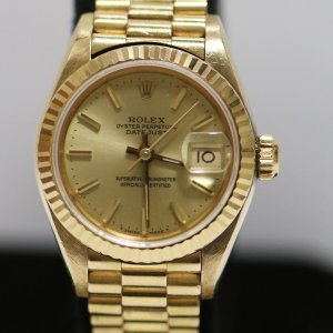 Gold Ladies Watch front view