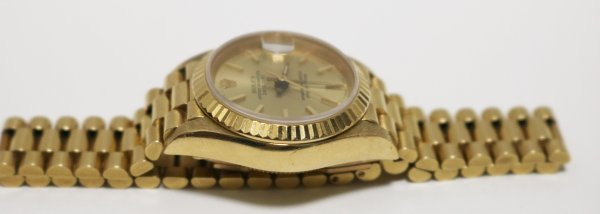 Gold Ladies Watch other side view