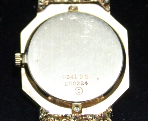 Piaget Solid Gold Watch back pict