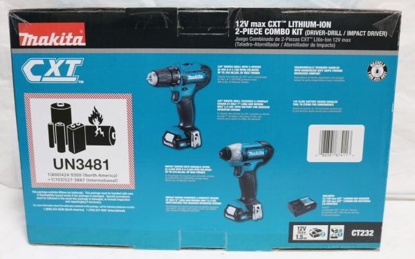 Makita Drill Impact Driver CT232 back