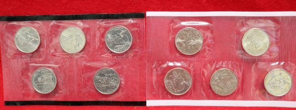 2002 Uncirculated Coin Set quarters