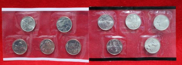 2004 Uncirculated Coin Set quarters