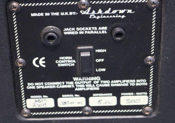 Ashdown ABM-210H Speaker Cabinet plate