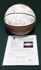 Mavericks Team Signed Basketball main