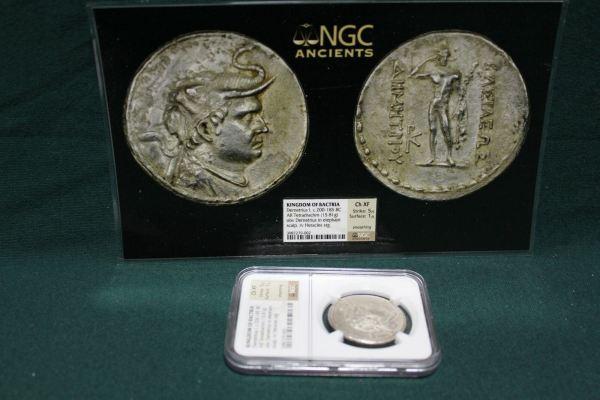 Bactria Silver Tetradrachm Coin main