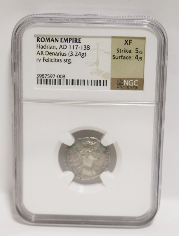Roman Empire Denarius Coin fornt