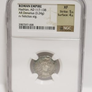 Roman Empire Denarius Coin fornt