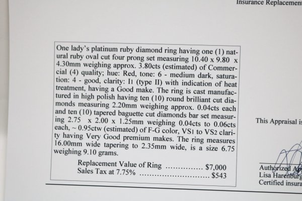 Ruby Diamond Ladies Ring description