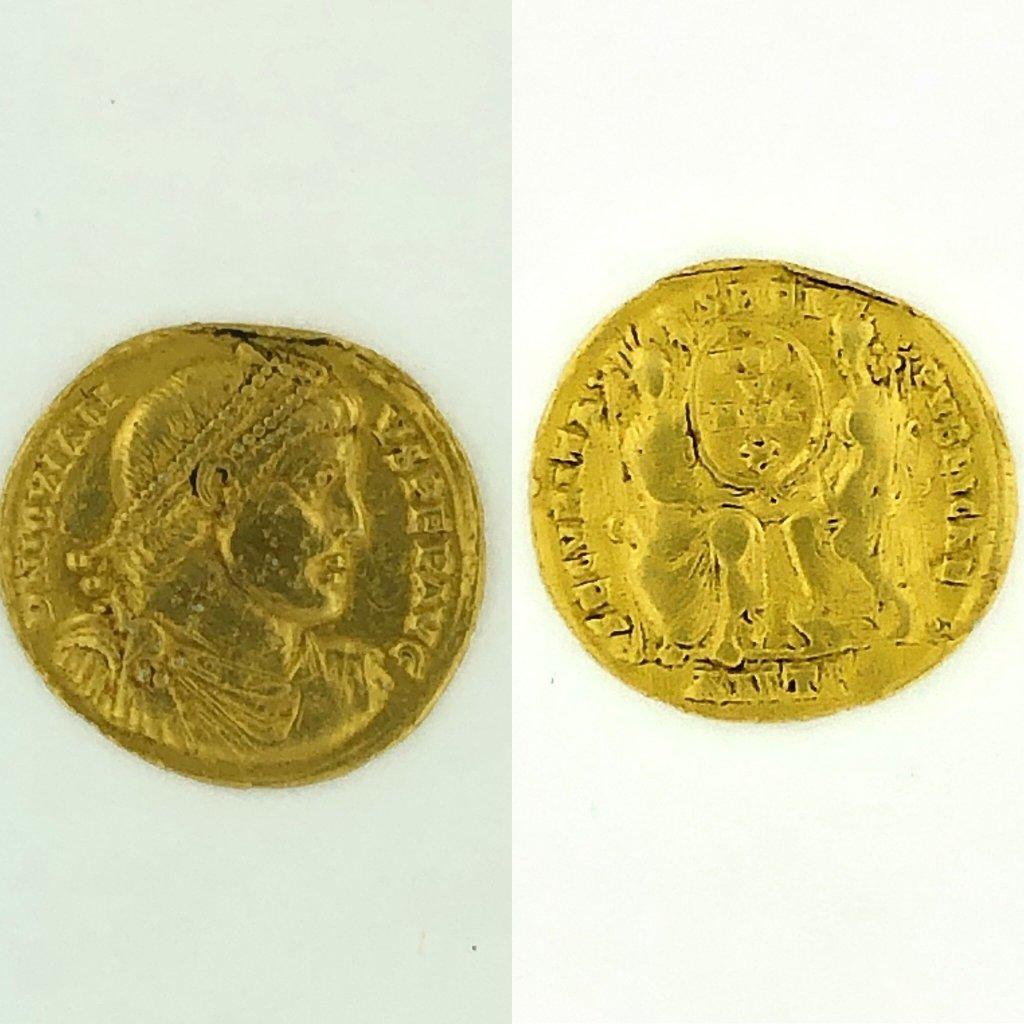 Ancient Roman Empire Treasure coin