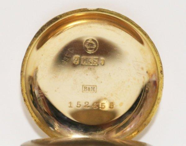 G Schmidt Staub Karlsruhe Watch gold marks