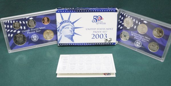 2003-S Proof Coin Set main pict
