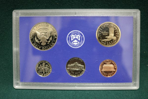 2003-S Proof Coin Set coins rear