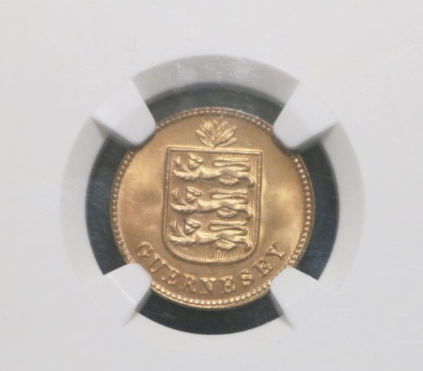 Guernsey 1933 Double Coin front