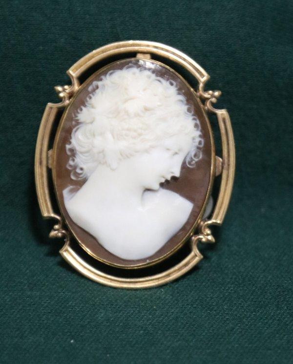 Cameo Pin Necklace Pendant main