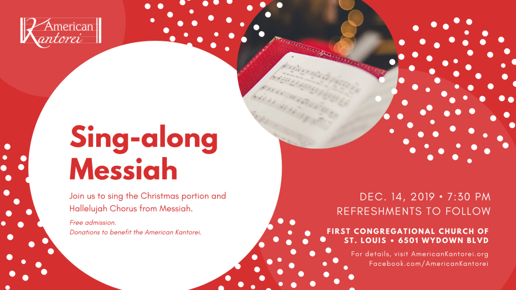 American Kantorei Messiah Sing-Along Dec 14, 2019
