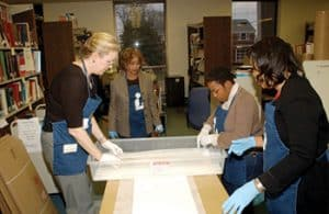 Jessie Carney Smith (second from left) at a Mellon Foundation–funded library training workshop on preservation, held at Fisk University in Nashville. (Photo: Jessie Carney Smith)