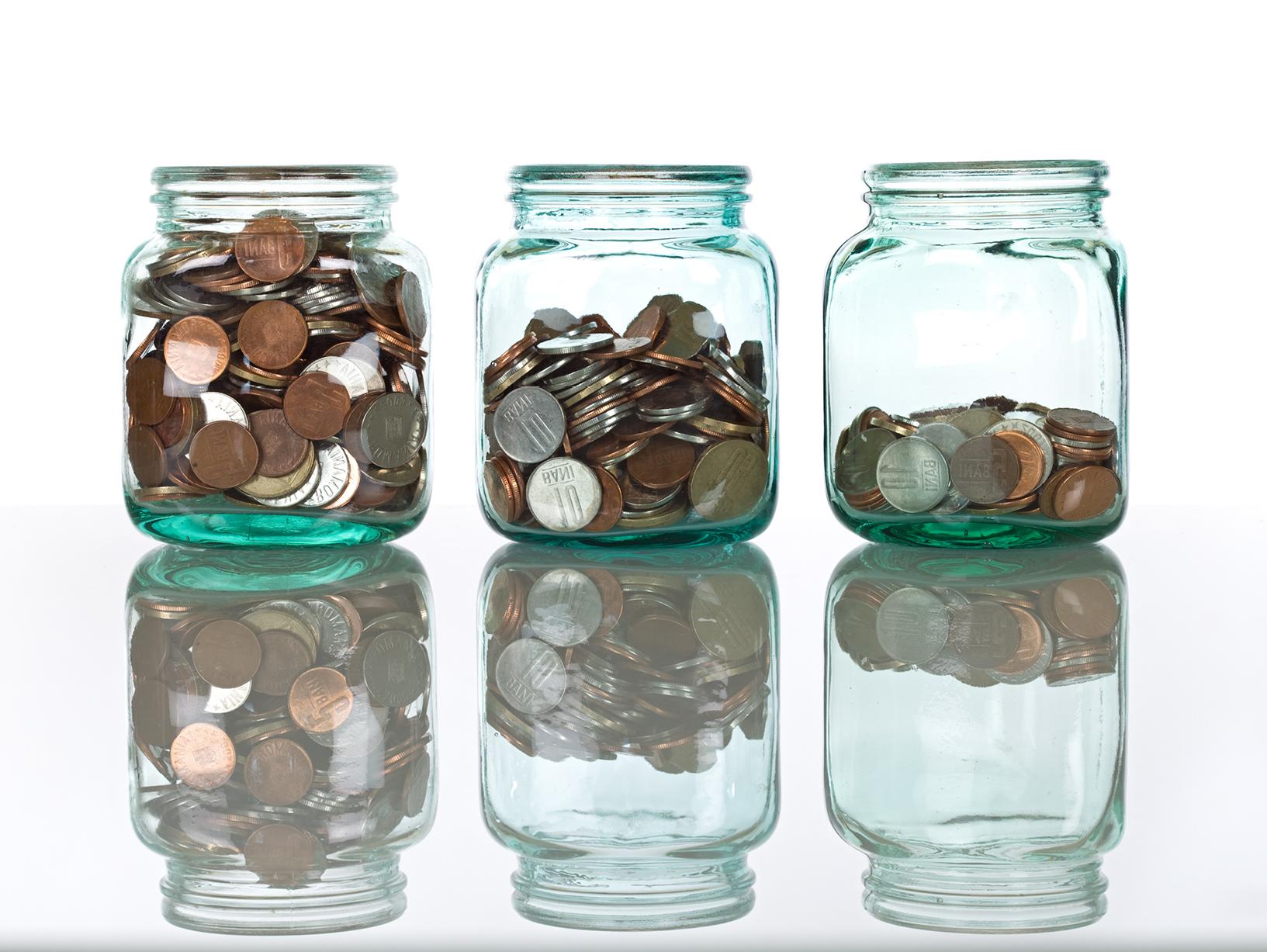 jars with change