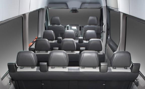 Elegant Sprinter Van Interior View