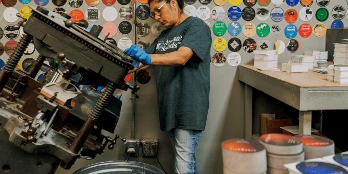 QRP vinyl records pressing plant