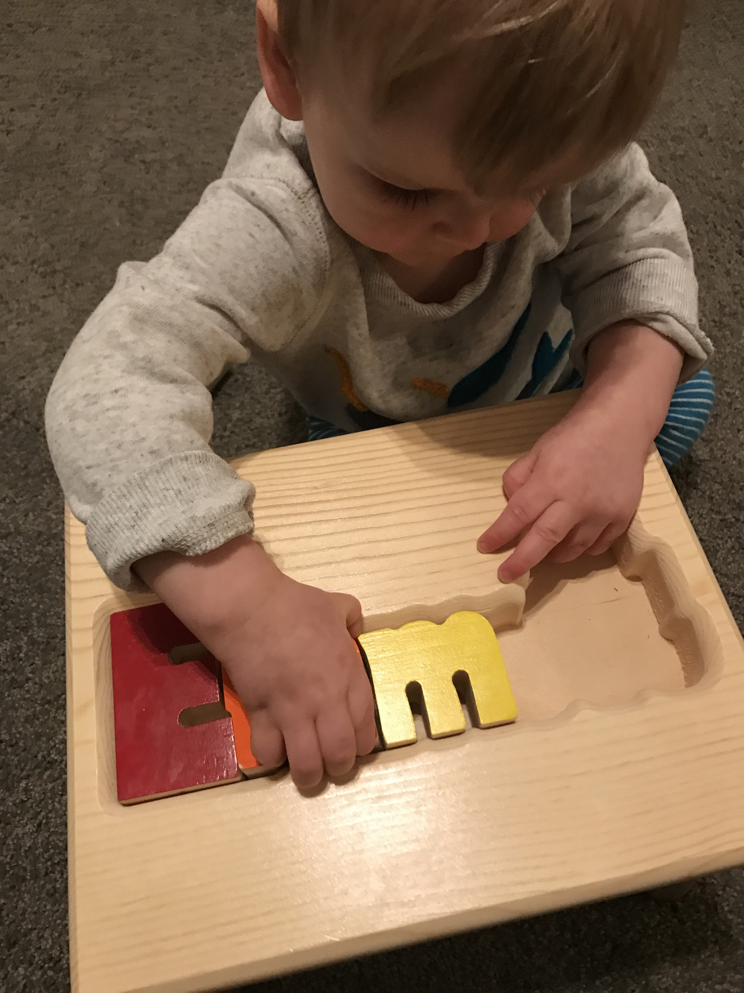 Personalized Puzzle Stool American Made Baby Brands