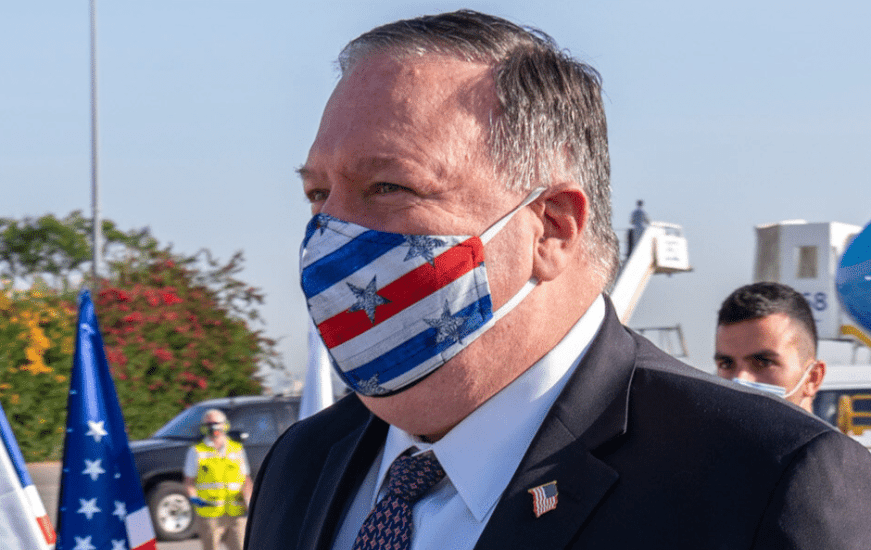 Pompeo wears US flag facemask to Israel – here are the pics