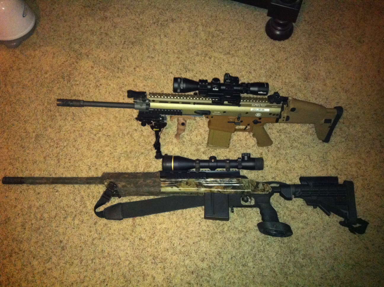 SCAR 17S Heavy And Savage 110 Bolt Action Sniper Real