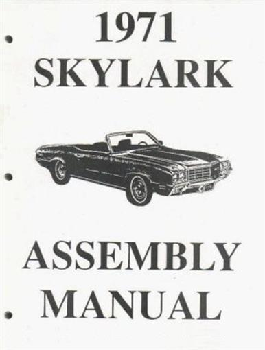 BUICK 1971 Skylark & GS Gran Sport Assembly Manual 71