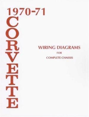 CORVETTE 1970 & 1971 Wiring Diagram 7071 Vette | eBay