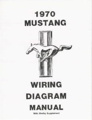 MUSTANG 1970 Wiring Diagram Manual 70 | eBay