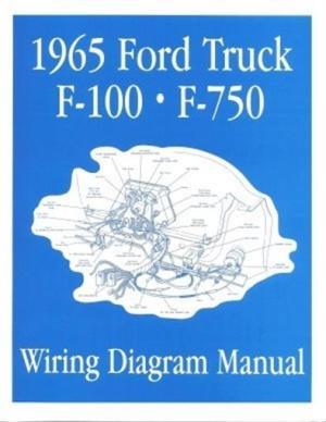 FORD 1965 F100  F750 Truck Wiring Diagram Manual 65 | eBay