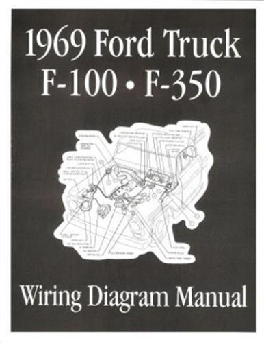 ford 1969 f100  f350 truck wiring diagram manual 69  ebay