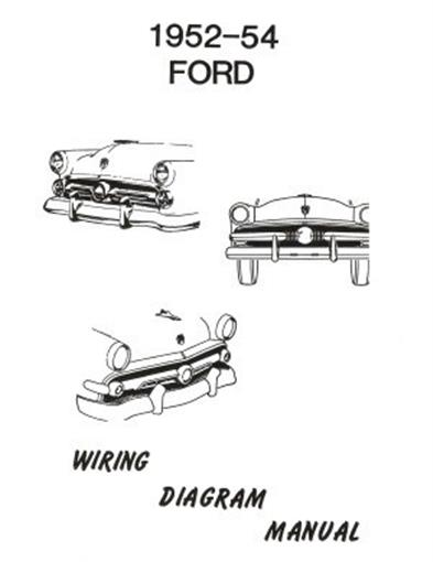 FORD 1952, 1953 & 1954 Car Wiring Diagram Manual