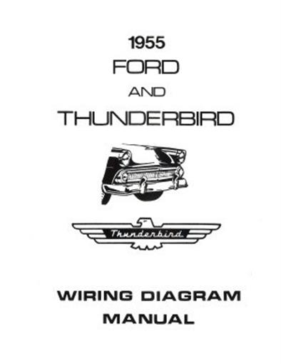 1955 ford fairlane wiring diagram 2007 f150 power mirror customline, fairlaine & thunderbird manual | ebay