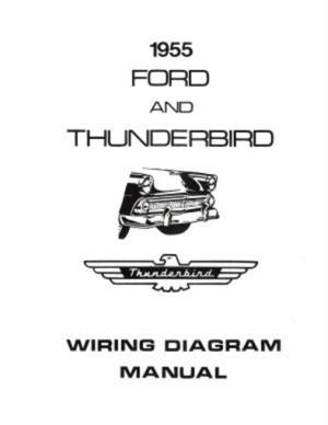 FORD 1955 Customline, Fairlaine & Thunderbird Wiring
