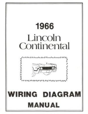 LINCOLN 1966 Continental Wiring Diagram Manual 66 | eBay
