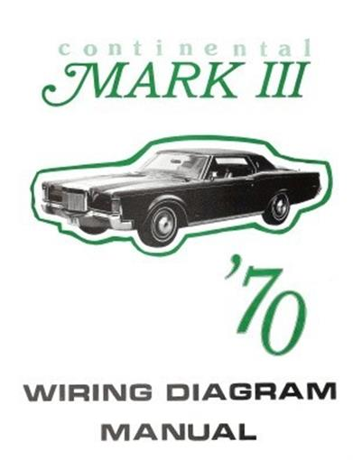 lincoln 1970 continental mark iii wiring diagram manual 70 ebay