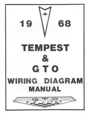 PONTIAC 1968 Tempest & GTO Wiring Diagram 68 | eBay