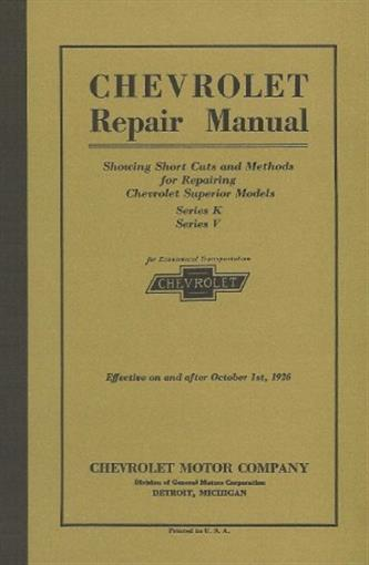 Wiring Diagram For 1925 Chevrolet Superior Models Series K