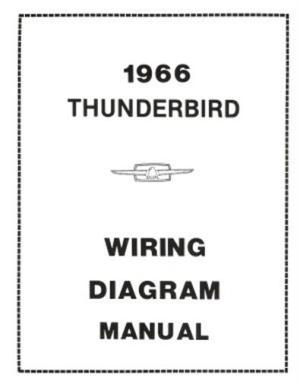 FORD 1966 Thunderbird Wiring Diagram Manual 66   eBay