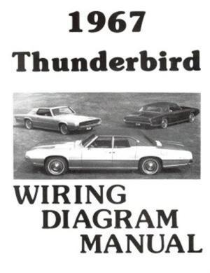 FORD 1967 Thunderbird Wiring Diagram Manual 67 | eBay