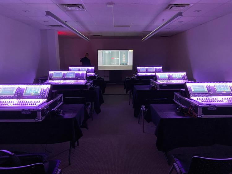 Allen & Heath Academy training setup