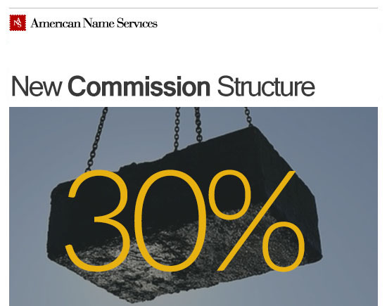 New Commission Structure American Name Services