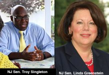 Senator Troy Singleton and Senator Linda Greenstein. Photos taken from their websites.