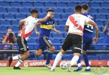 Vista de un partido entre River Plate y Boca Juniors