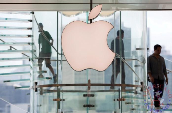 Apple Logo on store window
