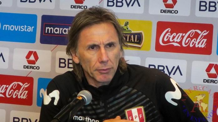 El entrenador de selección peruana de fútbol, el argentino Ricardo Gareca