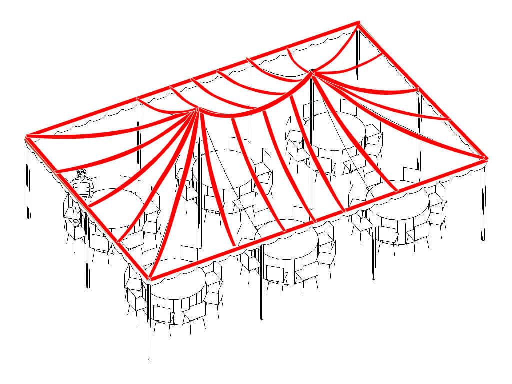 hight resolution of full canopy lighting