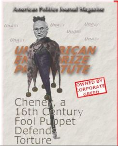 cheney 16th century puppet USE