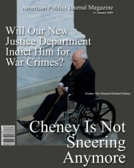 dick cheney the day of Obama swearing in