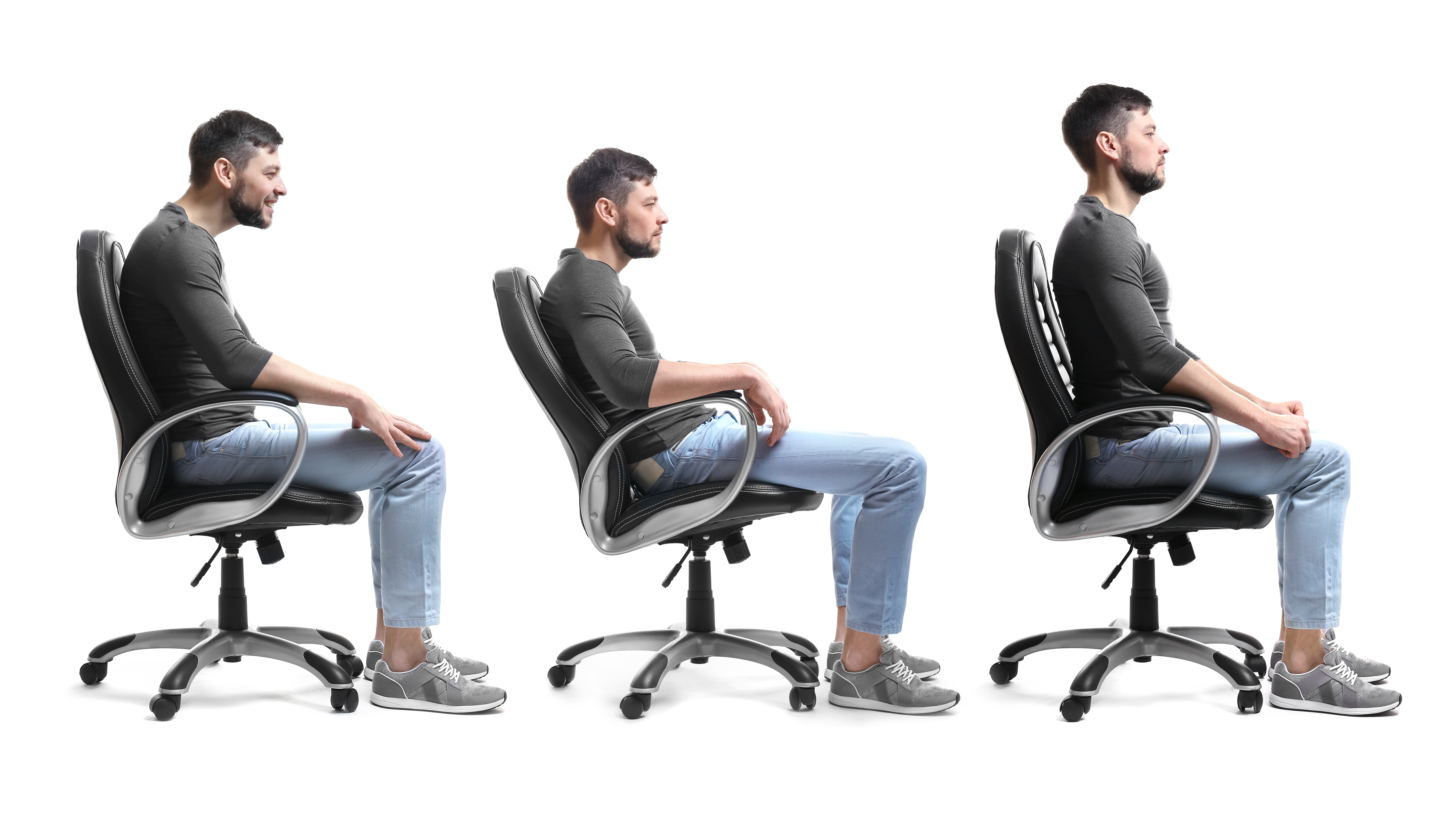desk chair good posture swing canada american institute  slouched sitting makes you